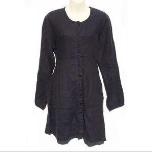 FLAX minimalist 100% Linen T-shirt Dress | Small